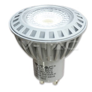 VTAC SKU 1603 GU10 SPOT LED 6W GU10 СОВ PLASTIC 3000K 110° 450LM