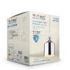 VTAC SKU 3705 PENDANT LIGHT HOLDER(BOTTLE)-CHROME SUSPENSION CHROMÉ V-TAC SKU3705