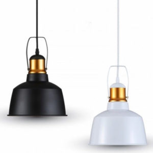 VTAC SKU3727 3729 ALUMINIUM SHADE PENDANT LIGHT-BLACK WHITE SUSPENSION ALUMINIUM NOIR BLANC V-TAC SKU 3728 3729
