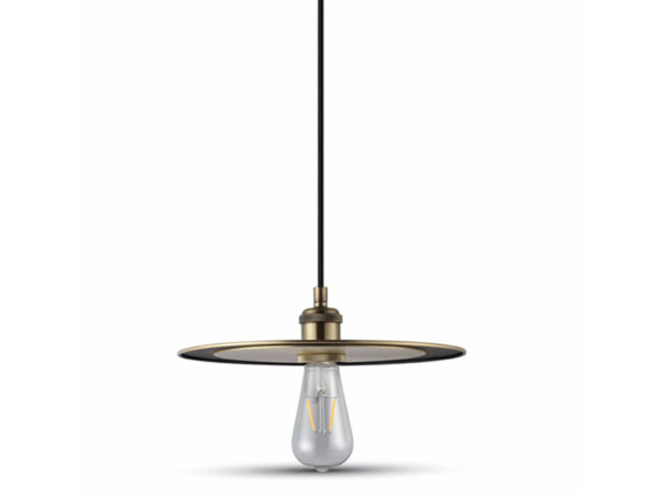 VTAC SKU 3752 SUSPENSION PLATE OR MAT METAL PENDANT LIGHT-MATT GOLD V-TAC SKU3752
