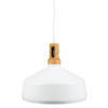 VTAC SKU 3765 SUSPENSION BOIS ET METAL BLANCHE WOODEN TOP IRON PENDANT LIGHT-WHITE V-TAC SKU3765