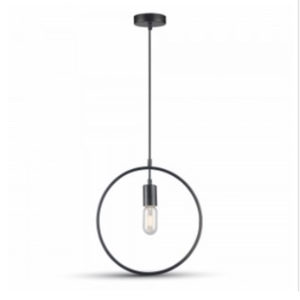 VTAC SKU3836 SUSPENSION CERCLE NOIR MATT BLACK PENDANT LIGHT WITH BLACK CANOPY V-TAC SKU 3836