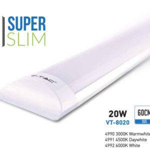 VTAC SKU4990 4991 4992 20W Aluminum Grill PRISMATIC Fitting 60cm White Réglette PRISMATIQUE slim aluminium V-TAC SKU 4990 4991 4992